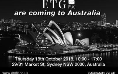 ETG FX are coming to Australia